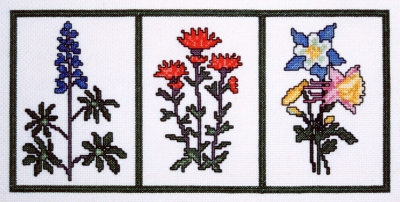 click here to view larger image of Grand Teton Wildflower Sampler (counted cross stitch kit)