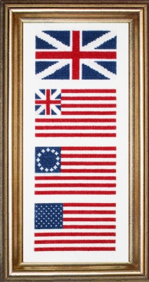click here to view larger image of Historic Flags Set (counted cross stitch kit)