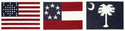 click here to view larger image of Flags Over Fort Sumter (counted cross stitch kit)