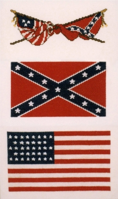 click here to view larger image of Flags Of The Civil War (counted cross stitch kit)
