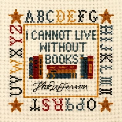 click here to view larger image of Jefferson Book Quote Sampler (counted cross stitch kit)
