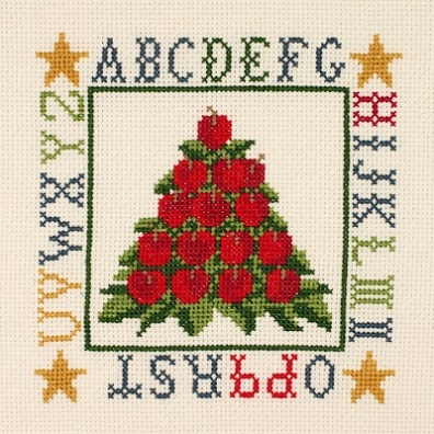 click here to view larger image of Apple Cone Sampler (counted cross stitch kit)