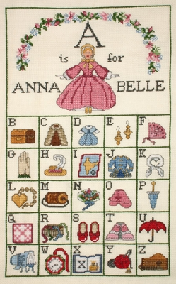 click here to view larger image of A Is For Annabelle (counted cross stitch kit)