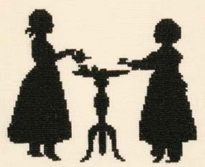 click here to view larger image of Tea Party (counted cross stitch kit)