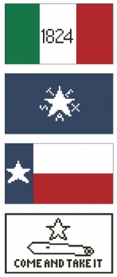 click here to view larger image of Texas Flags (counted cross stitch kit)