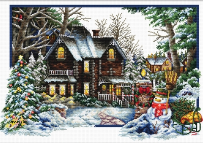 click here to view larger image of Winter Comes (stamped cross stitch kit)