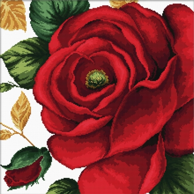click here to view larger image of Rose - No Count Cross Stitch (stamped cross stitch kit)