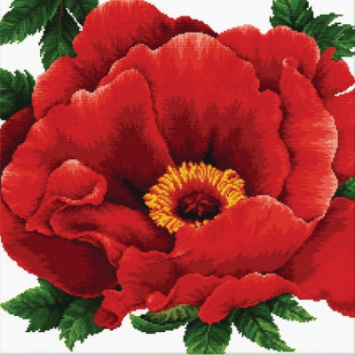 click here to view larger image of Peony - No Count Cross Stitch (stamped cross stitch kit)