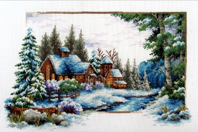 click here to view larger image of Winter Now - No Count Cross Stitch (stamped cross stitch kit)