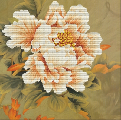 click here to view larger image of Blooming Peony 1 - No Count Cross Stitch (stamped cross stitch kit)