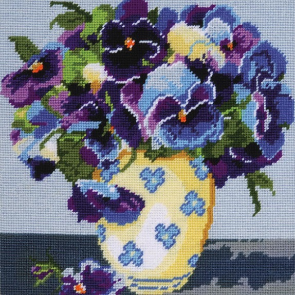 click here to view larger image of Pansies Needlepoint (needlepoint)