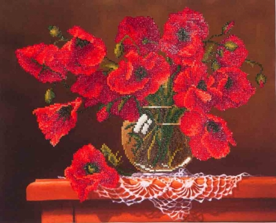 click here to view larger image of Red Poppies (Diamond Embroidery)