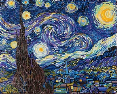click here to view larger image of Starry Night - Van Gogh (Diamond Embroidery)