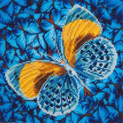 click here to view larger image of Flutter By Gold (Diamond Embroidery)