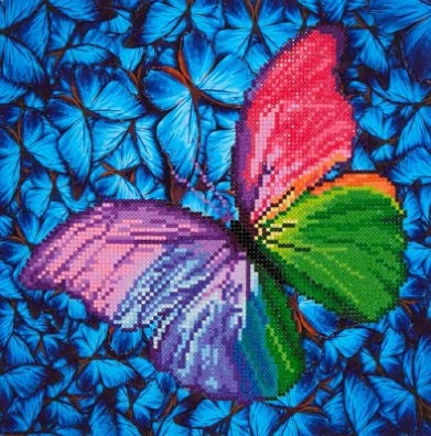 click here to view larger image of Flutter By Pink (Diamond Embroidery)