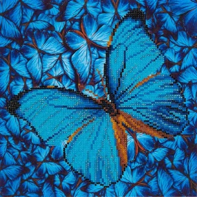 click here to view larger image of Flutter By Blue (Diamond Embroidery)