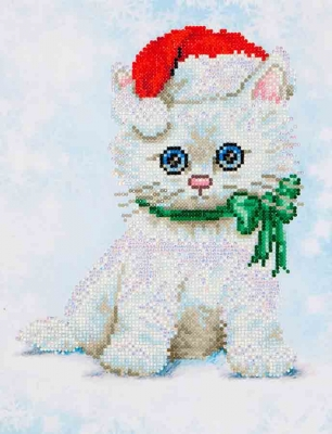 click here to view larger image of Chrissy Kitty (Diamond Embroidery)
