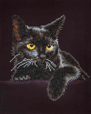 click here to view larger image of Midnight Cat (Diamond Embroidery)