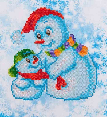 click here to view larger image of Snow Family (Diamond Embroidery)