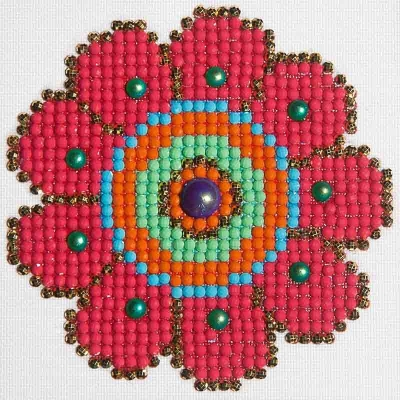 click here to view larger image of Flower Power (Diamond Embroidery)