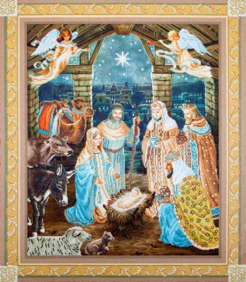 click here to view larger image of Nativity Scene (Diamond Embroidery)