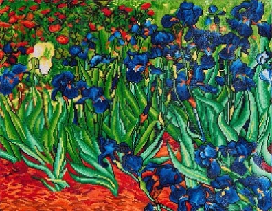 click here to view larger image of Irises (Van Gogh) (Diamond Embroidery)