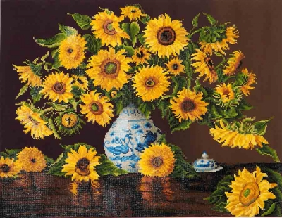 click here to view larger image of Sunflowers In China Vase (Diamond Embroidery)