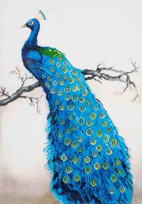 click here to view larger image of Blue Peacock (Diamond Embroidery)
