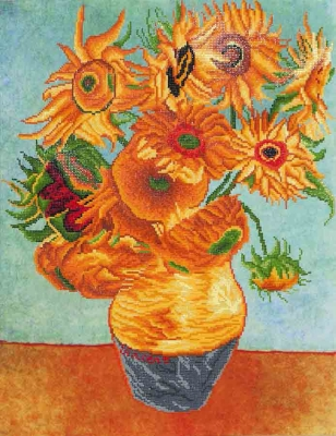click here to view larger image of Sunflowers (Van Gogh) (Diamond Embroidery)