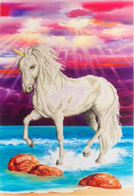click here to view larger image of Mythical Unicorn (Diamond Embroidery)