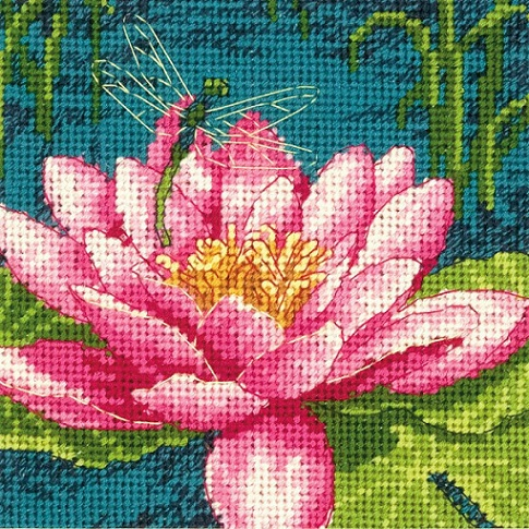 click here to view larger image of Dragon Lily (needlepoint)