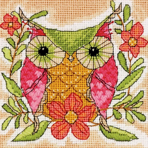 click here to view larger image of Whimsical Owl (needlepoint)