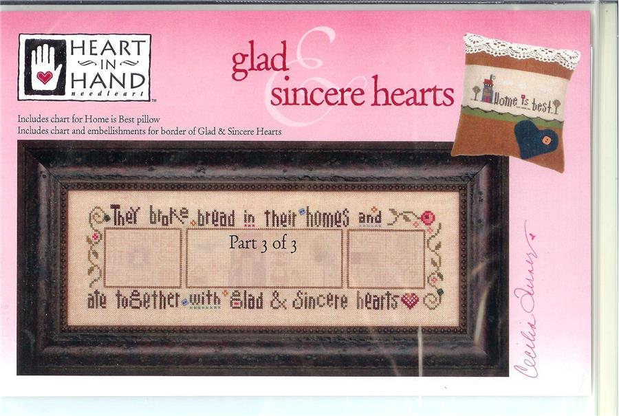 Glad And Sincere Hearts - Part 3 - click here for more details about chart with charms/buttons