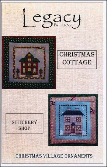 click here to view larger image of Christmas Village Ornaments - Christmas Cottage/Stitchery Shop (chart)