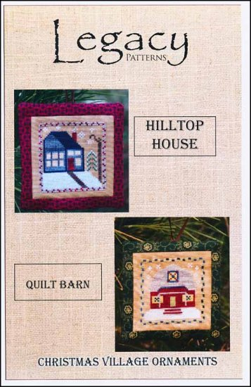 click here to view larger image of Christmas Village Ornaments - Hilltop House/Quilt Barn (chart)