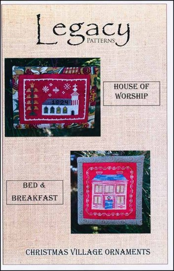 click here to view larger image of Christmas Village Ornaments - House Of Worship/Bed and Breakfast (chart)