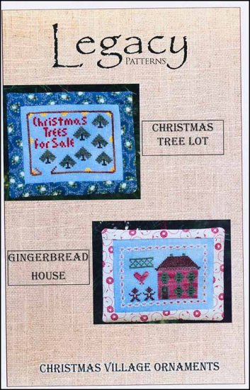 click here to view larger image of Christmas Village Ornaments - Christmas Tree Lot/Gingerbread House (chart)