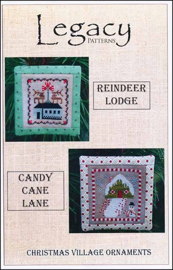 click here to view larger image of Christmas Village Ornaments - Reindeer Lodge/Candy Cane Lane (chart)
