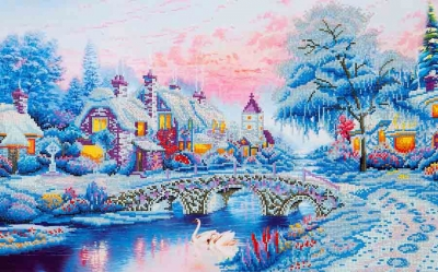 click here to view larger image of Winter Village (Diamond Embroidery)