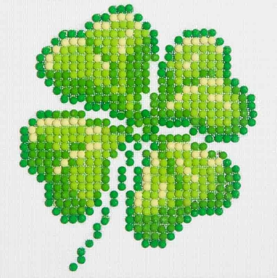 click here to view larger image of Four Leaf Clover (Diamond Embroidery)