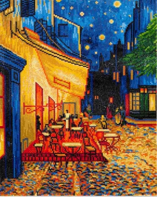 click here to view larger image of Cafe At Night (Diamond Embroidery)