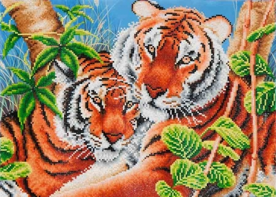 click here to view larger image of Tender Tigers (Diamond Embroidery)