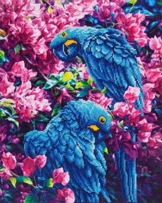 click here to view larger image of Blue Parrots (Diamond Embroidery)