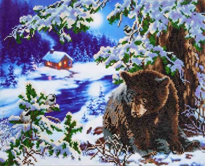 click here to view larger image of Rambling Bear (Diamond Embroidery)