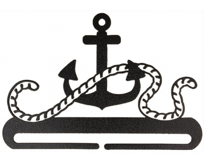 click here to view larger image of Anchor Split Bottom Bellpull - Charcoal - 12in (accessory)