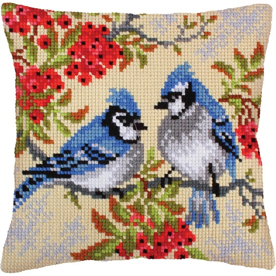 click here to view larger image of Blue Jays (needlepoint)
