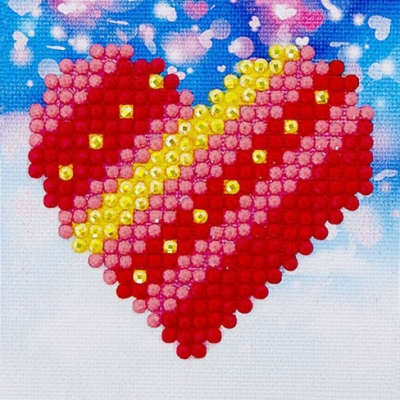 click here to view larger image of Patchwork Heart (Diamond Embroidery)