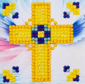 click here to view larger image of Golden Cross (Diamond Embroidery)