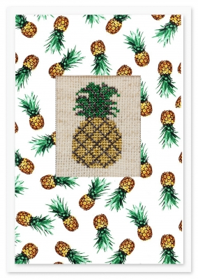click here to view larger image of Pineapple Card (counted cross stitch kit)