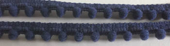 click here to view larger image of Miguels Navy Mini Pom Pom (fiber)